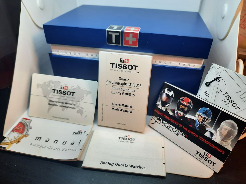 Tissot Anniversary watch box and cards